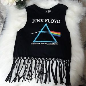 Divided Tops - 👄Vintage Pink Floyd Top-The Dark Side of The Moon